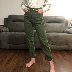 GUESS Vintage Green High Waisted Jeans